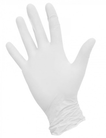 Перчатки нитриловые белые  100 шт