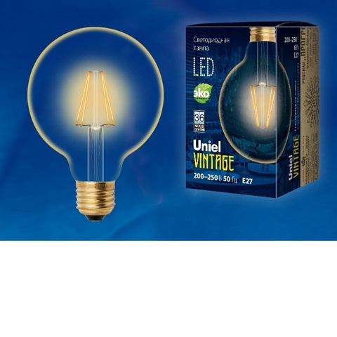 Лампа светодиодная UNIEL LED-G95-6W/GOLDEN/E27