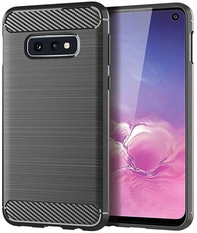 Чехол для Samsung Galaxy S10e цвет Gray (серый), серия Carbon от Caseport