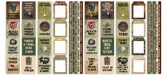 Набор скрапбумаги Military style 30,5x30,5 см 10 листов