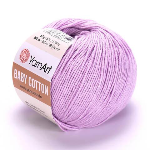 Пряжа Baby Cotton (Бэби Котон) Светло-сиреневый. Артикул: 416