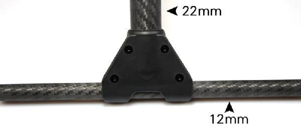 Пример использования Т-образных креплений ног для трубок 22/12мм (2шт)