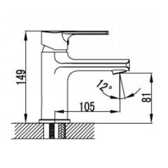 Смеситель KAISER Oval 56011 для раковины схема