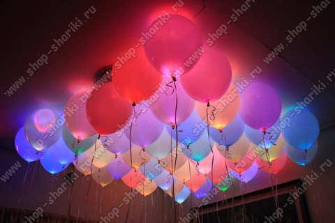 Светящиеся надувные шарики
