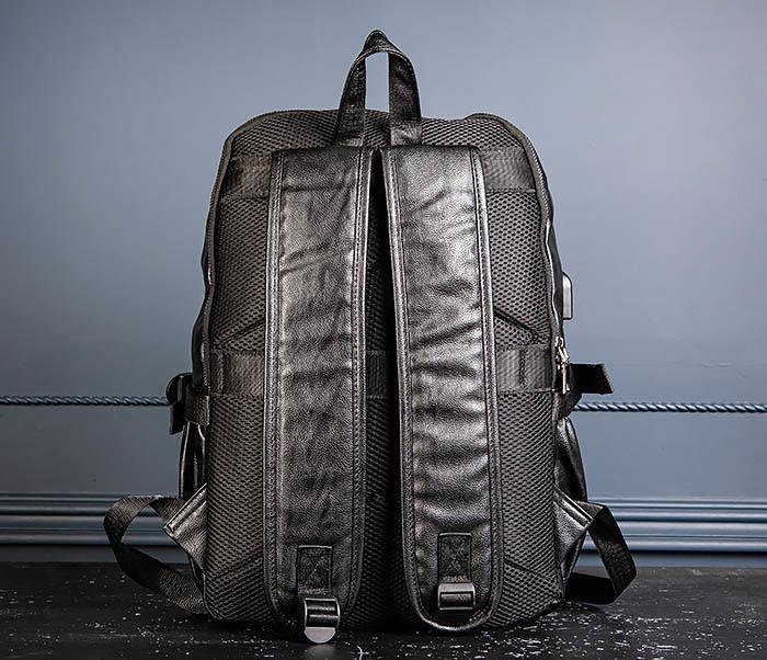 BAG527-1 Кожаный рюкзак с несколькими отделениями фото 08