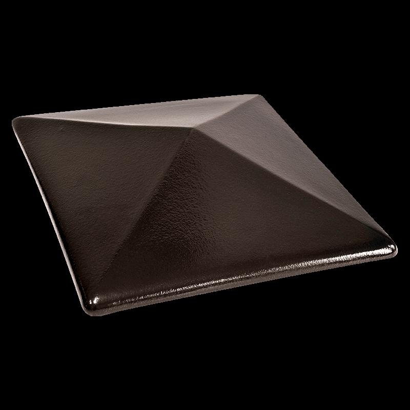 Колпак для столбов забора King Klinker, Ониксовый черный (17) Onyx black, 445x445x90