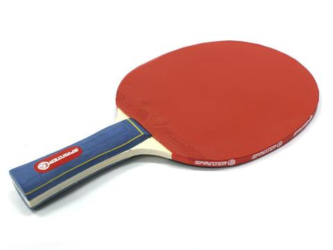 Ракетка Ping Pong для начинающих игроков. Однослойная без губки, жесткая. Форма ручки: коническая :(Н007):