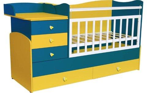 Кровать детская Фея 1400 солнечный синий