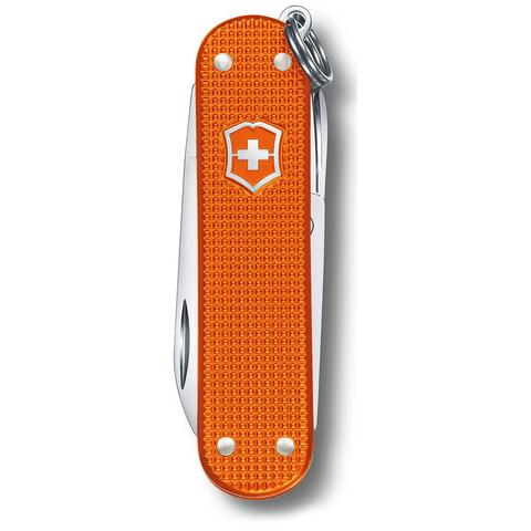 Нож-брелок Victorinox Classic Alox LE 2021, 58 мм, 5 функций, алюминиевая рукоять, оранжевый