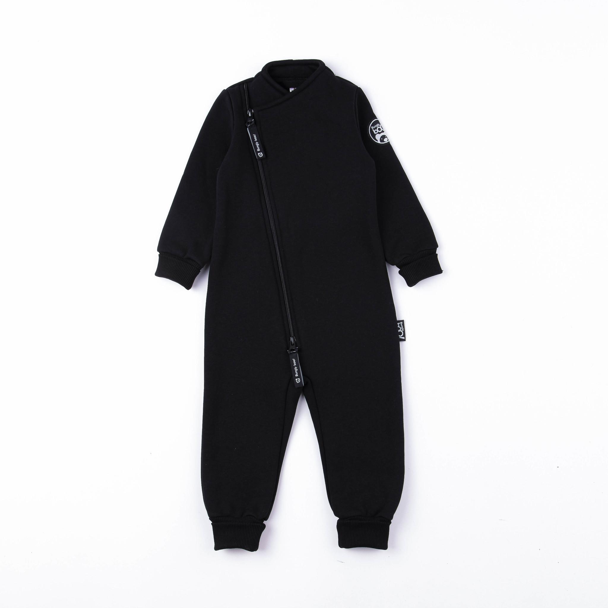 Warm diagonal jumpsuit - Black