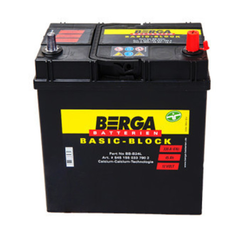 Аккумулятор BERGA Basic-Block Asia 45Ah 330A R+