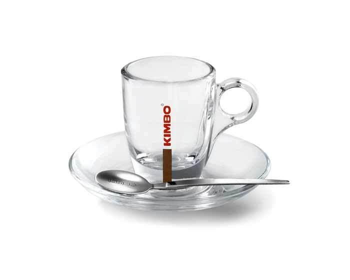 Кофейная пара стеклянная Kimbo для эспрессо, 60 мл