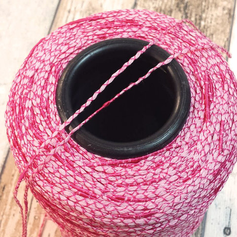 Вискоза ленточная  CASA DEL FILATO / PALMAS 240 розовый