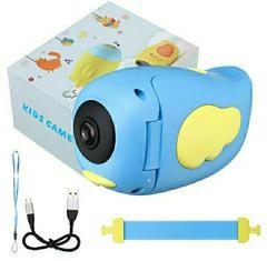 Детская Видеокамера (экшн-камера) HD голуая