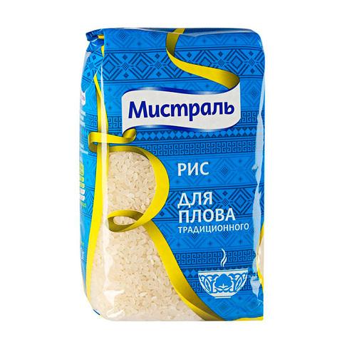 Рис для плова Мистраль МИНИМАРКЕТ 0,9кг