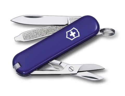 Нож-брелок Victorinox Classic, 58 мм, 7 функций, синий123