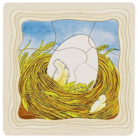 Пазл могослойный последовательность Яйцо-курица