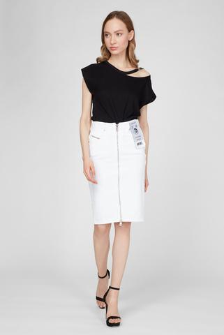 Женская белая джинсовая юбка DE-PENCIL-ZIP Diesel
