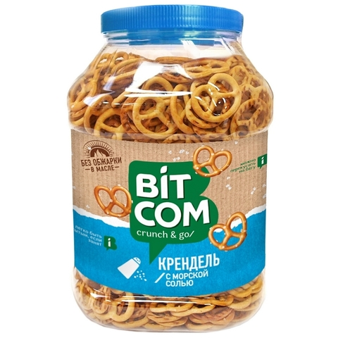 Сушки Крендель с морской солью Bitcom банка 450 г