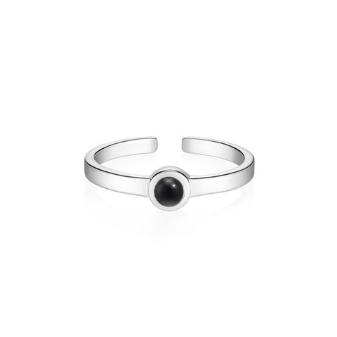 Миди-кольцо BETA c черным ониксом