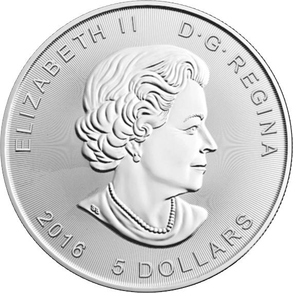 5 долларов Канада 2016