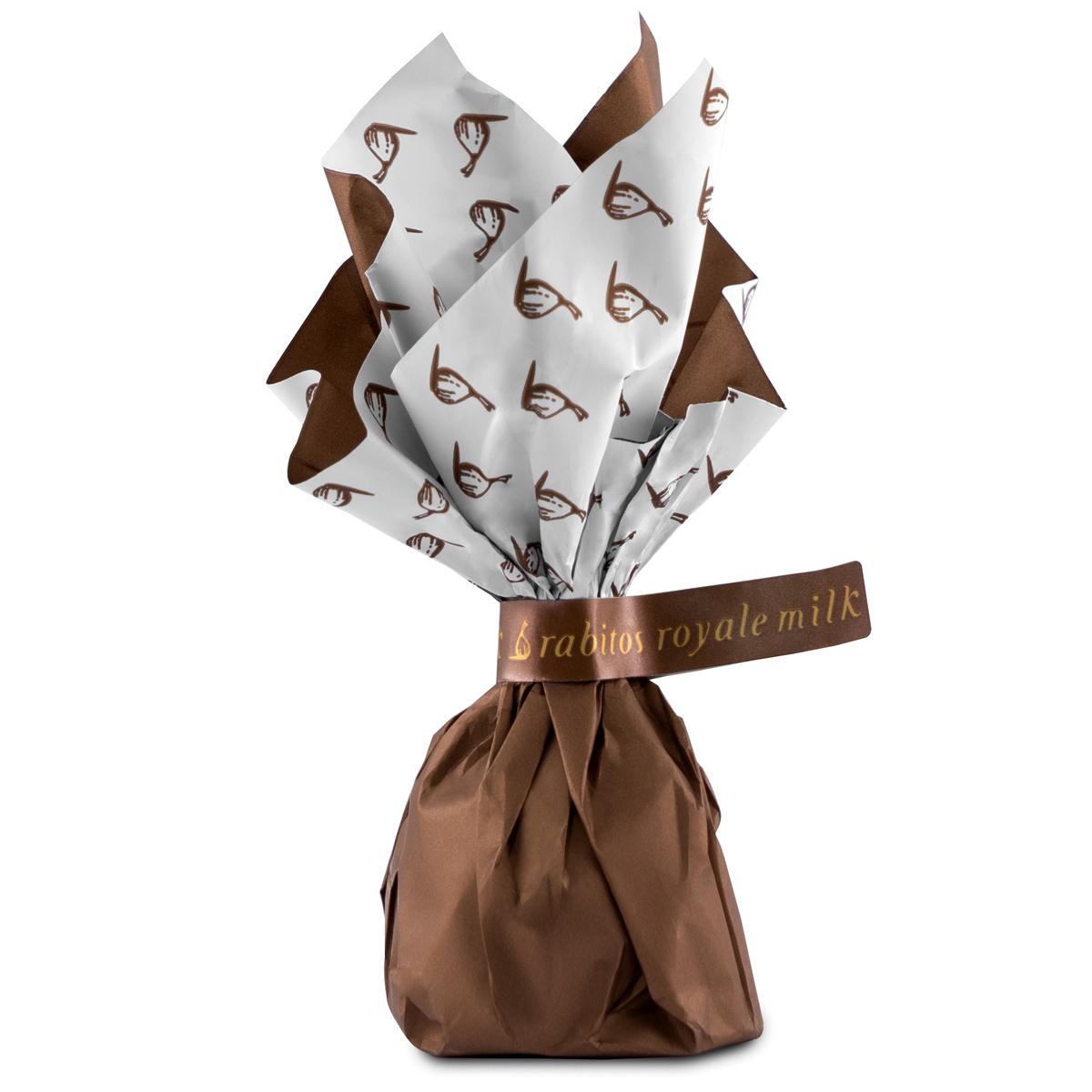 Конфеты Инжир в молочном шоколаде с начинкой из соленой карамели Rabitos 95 г 6 конфет