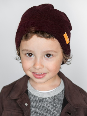 детская шапка из турецкой шерсти марсала