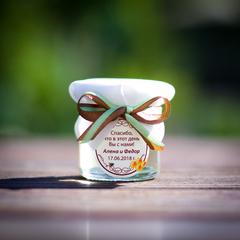 Бонбоньерка с медом на свадьбу, 40 грамм