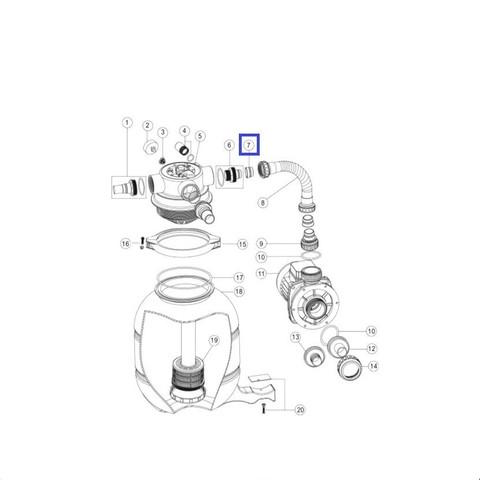 Втулка для шланга Aquaviva FSP (2011026) / 11865