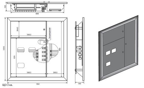 Щит этажный ЩЭ-3301 (без счетчиков)
