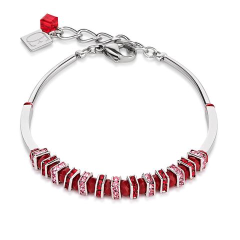 Браслет Coeur de Lion 4858/30-0300 цвет красный, розовый
