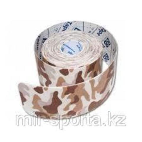 BBtape кинезио тейп 5см х 5м С рисунком камуфляж песочный