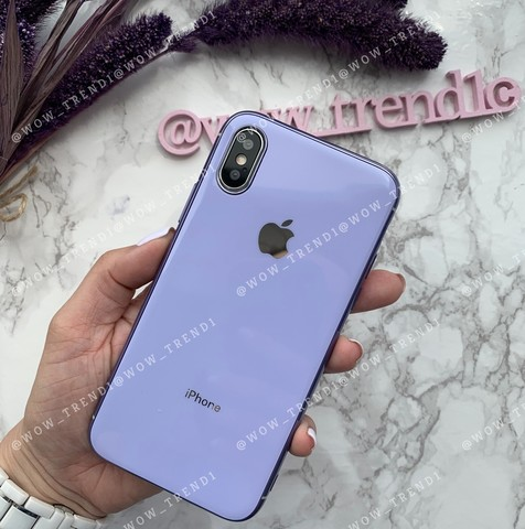 Чехол iPhone X/XS Glass Silicone Case Logo /glycine/