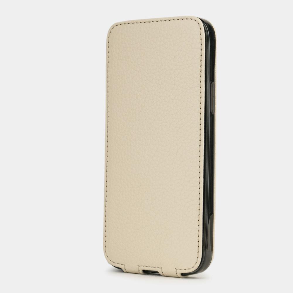 Чехол для iPhone 12 Pro Max из натуральной кожи теленка, молочного цвета