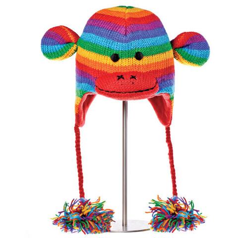 Картинка шапка с ушами Knitwits Stripe Sock Monkey  - 2