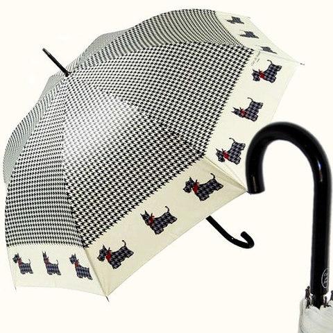 Женский зонт-трость шотландский терьер