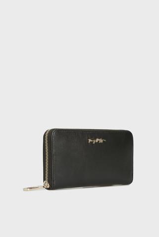 Женский черный кожаный кошелек ESSENTIAL Tommy Hilfiger