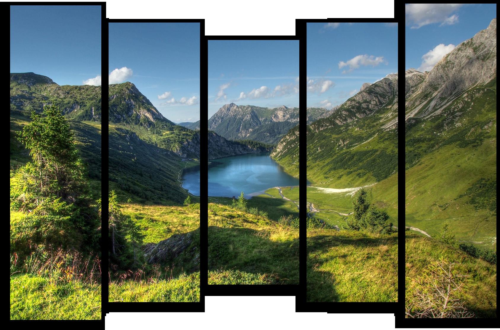 """Природа Модульная картина """"Мощные горы"""" М570.png"""