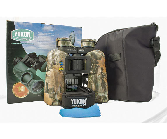 Комплект поставки бинокля Yukon 16 50 WA
