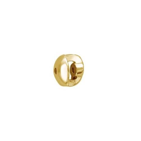 Застежка завинчивающаяся для пусет и гвоздиков из желтого золота