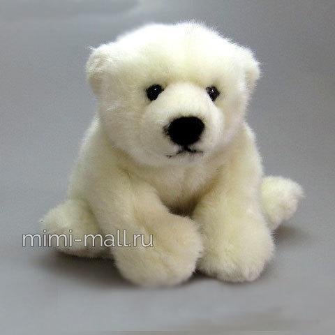 Мягкая игрушка Медведь полярный сидящий 21 см (Leosco)