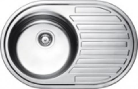 Кухонная мойка врезная из нержавеющей стали Kaiser KSS-7750 L (левая)