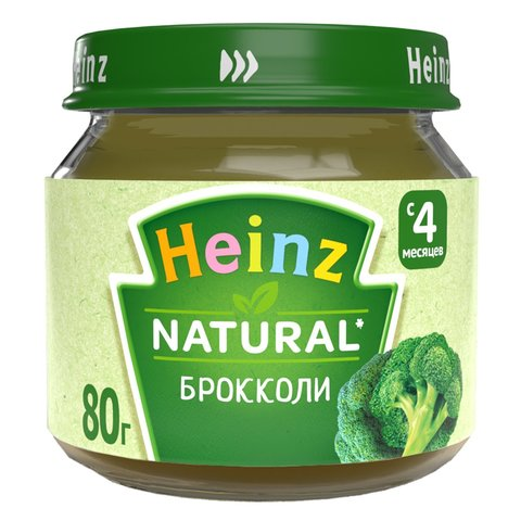 Пюре Heinz, брокколи, 80 гр. (4+ мес.)