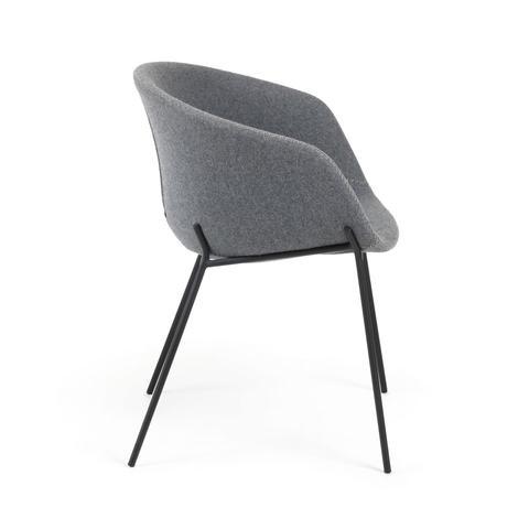 Кресло Zadine ткань серая