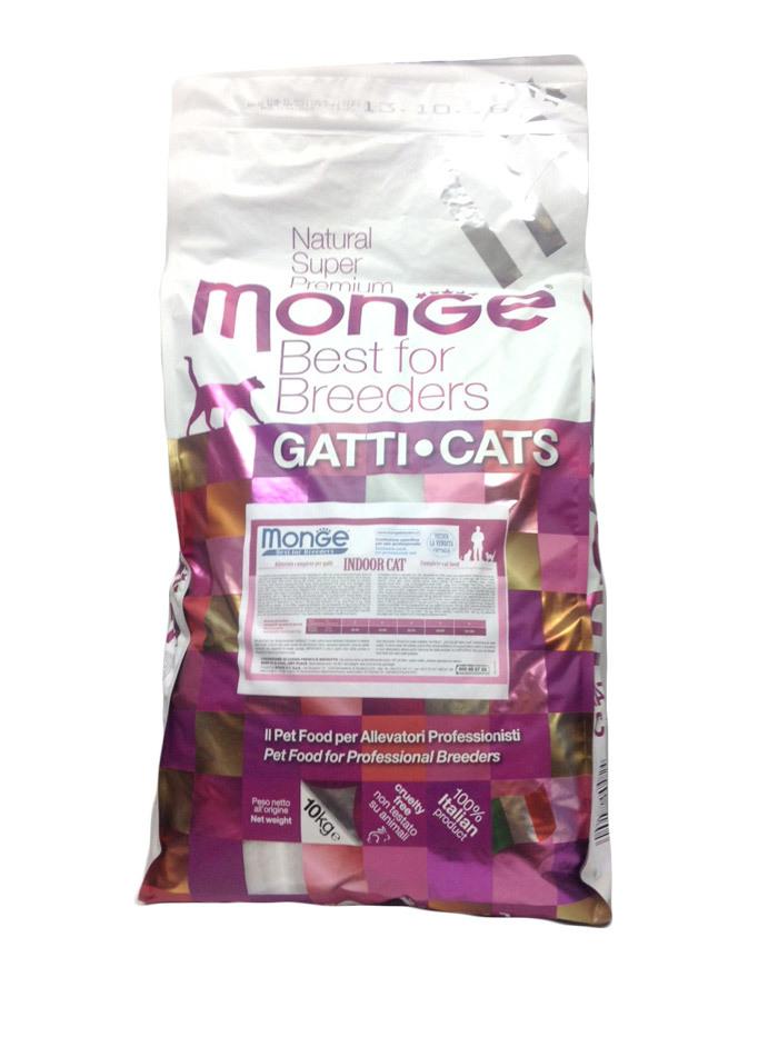 Купить Monge Cat Indoor корм для домашних кошек 10 кг