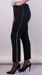 Лінда. Модні брюки великих розмірів. Чорний.
