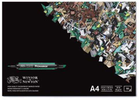 Альбом для маркеров, 70 г/м, А4, 50 листов
