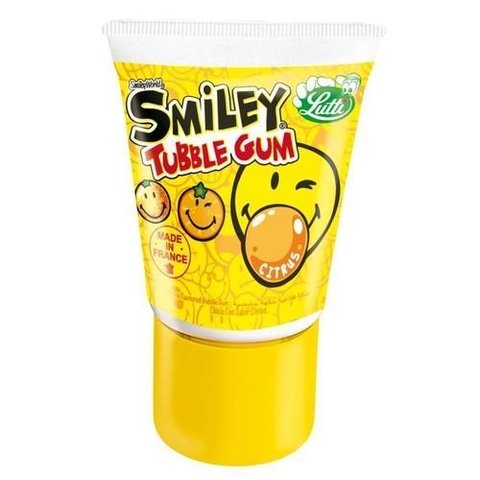 Жевачка в тюбике Tubble Gum Smiley Citrus со вкусом цитрусов 35 гр