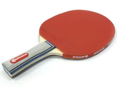 Ракетка Ping Pong для начинающих игроков. Однослойная с мягкой губкой. Форма ручки: коническая. :(Н015):