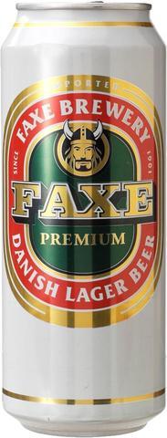 Faxe Premium / Факс Премиум (светлое пастеризованное фильтрованное)